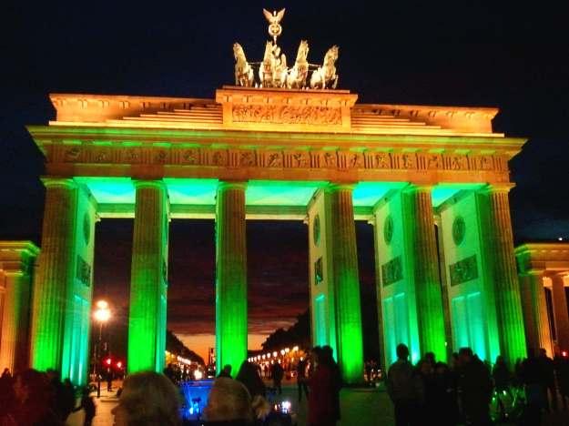 The Brandenburg Gate during the City of Lights Festival in Berlin